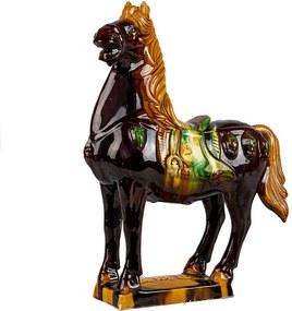 Estatueta Cavalo em Porcelana Marrom