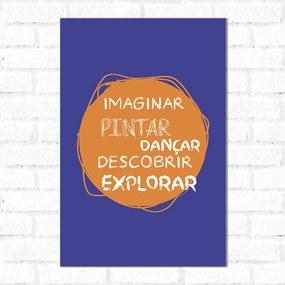 Placa Decorativa Imaginação