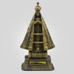 Imagem De Nossa Senhora Aparecida Ouro Velho 23 cm Inquebravel