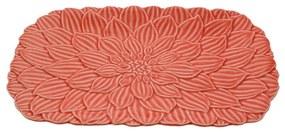 Travessa Porcelana Daisy Coral 36x23x3cm 27748 Wolff