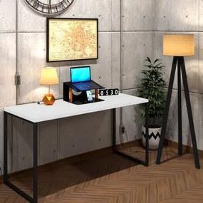 Mesa Para Escritório Diretor Estilo Industrial  Vintage | Tam: 150x60|Cor: Branco