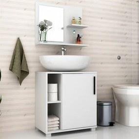 Conjunto Banheiro Laspi C/ Espelho Branco