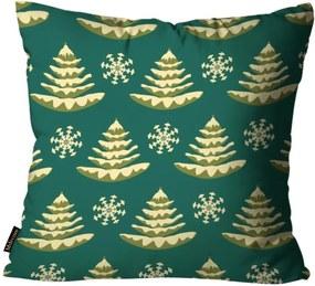 Almofada Mdecore Natal Arvore de Natal Verde 45x45cm