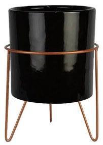 Vaso Decorativo Redondo Pequeno Preto - NT 44791