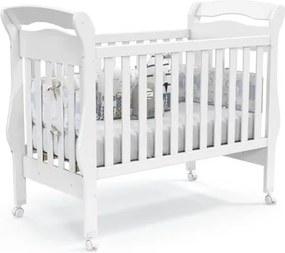 Berço Americano Mini-Cama 100% MDF Bambini Branco Soft - Matic