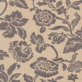 Papel de Parede Floral Marrom Fundo Bege 52cm x 10m Harmonia