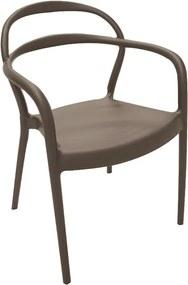 Cadeira Sissi com Braço Marrom - Tramontina