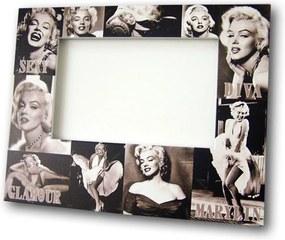 Porta-Retrato Marylin Monroe Preto e Branco - Foto 10x15 cm - em MDF
