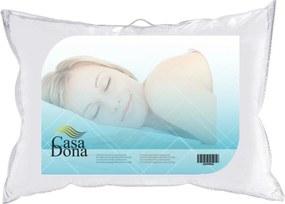 Travesseiro Percal 50x70cm Casa Dona 200 Fios Fibra Siliconada Branco