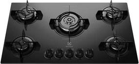 Cooktop 05 Bocas Electrolux Tripla Chama KE5TP - Acendimento Super automático, Botões removíveis Unica