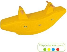 Gangorra Arca De Noé 2 Lugares Amarelo Alpha Brinquedos