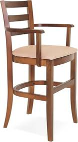 Cadeira de Madeira Infantil Paris Sofie Amendoa com Braços e Estofado Bege Tramontina 14084131