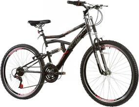 Bicicleta Aro 26 Mtb Boxxer Full Susp. 21V Aero Susp. Downhill Preto Fosco Track & Bikes