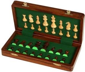 Jogo de Xadrez com Tabuleiro de Madeira Magnético
