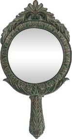 Espelho Decorativo Redondo com Pintura Envelhecida - 48x5x25cm