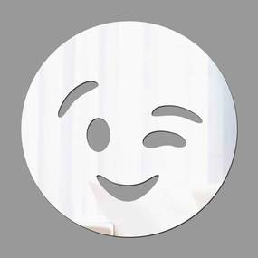Espelho Decorativo Emoji Piscada