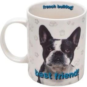 Caneca Porcelana Buldog Francês 330 Ml 26608 Bon Gourmet