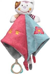 Pano de Ninar Colorido do Gato - Storki Azul/Rosa