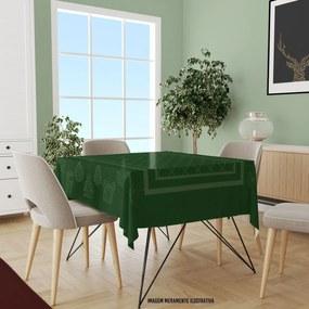 Toalha de Mesa Quadrada Para 4 Lugares Elementos Natalinos Modernos 1.45m x 1. 45m Único