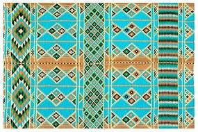 Tapete Kilim Egípcio Azul Claro