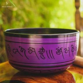 Tigela Tibetana Roxa p/ Meditação