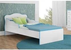 Mini Cama Infantil Doce Sonho Branco/Azul - Qmovi
