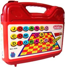 Jogo Didático Carimbras Jogando com Dígrafos Multicolorido