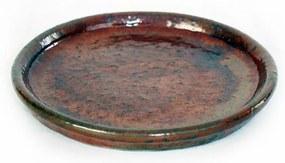 Prato Vietnamita Cerâmica Importada Redondo Cobre 41cm