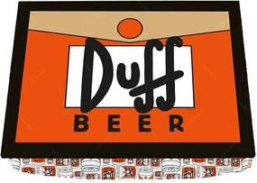 Bandeja para Notebook The Simpsons Duff Beer Laranja em Madeira