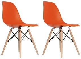 Conjunto 2 Cadeiras Eames Laranja Dsw - Concept