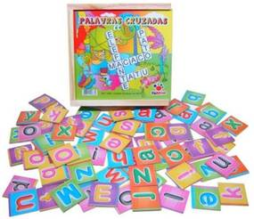 Palavras Cruzadas Ciabrink Pedagógicas Madeira Multicolorido