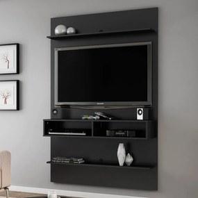 Painel para TV Até 50 Polegadas Vega Preto Fosco - Móveis Bechara
