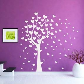 Adesivo de Parede Árvore corações