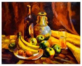 Quadro Decorativo Cesta de Frutas - KF 46595 40x60 (Moldura 520)