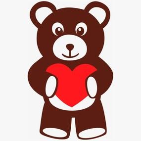 Adesivo de Parede Ursinho Heart