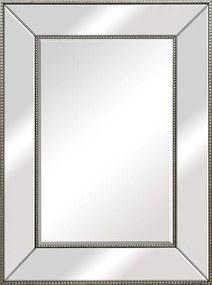 Espelho Retangular Prata com Moldura Espelhada - 58x78cm