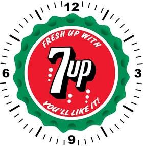 Relógio Decorativo 7up