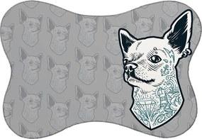 Tapete PET Mdecore Chihuahua Cinza46x33cm
