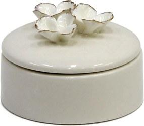 Pote Decorativo em Porcelana Flora