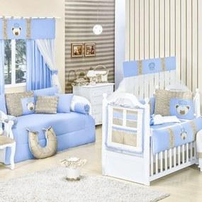 Quarto Para Bebê Padroeira Baby Urso Rei Azul Bebê