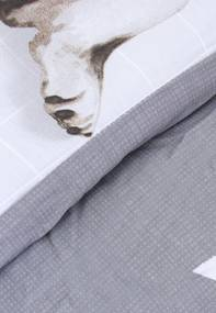 Edredom Solteiro Karsten Dupla-Face Bob 180 Fios Cinza