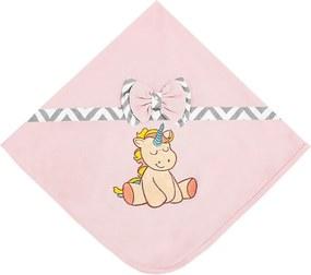 Manta Unicórnio Baby - Rosa - Bichinhos Padroeira Baby