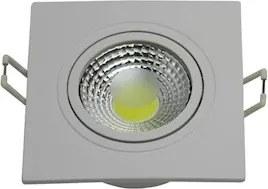 Plafon Led Embutir Quadrado Branco 6W Luz Branca 6000K