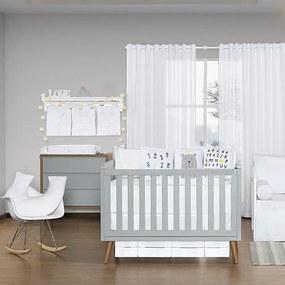 Quarto de Bebê Blanc Amarelo 17 Peças