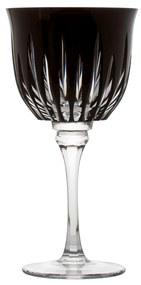 Taça de Cristal Lapidado p/ Água 25 - Preto - 66