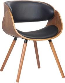 Cadeira Deise Pu Preta Base Madeira Rivatti Móveis