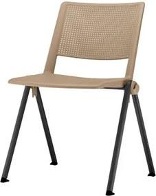 Cadeira Up Assento Bege Base Fixa Preta - 54316 Sun House