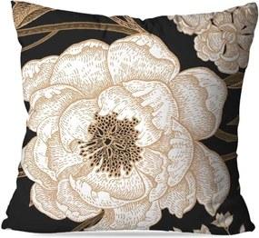 Almofada Avulsa Decorativa Rosa Branca 35x35 Love Decor