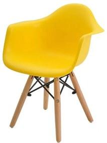 Cadeira INFANTIL Eames Eiffel com Braco PP Amarelo - 38203 Sun House