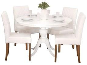 Conjunto Sala de Jantar Mesa Carla com 4 Cadeiras Beliz - Wood Prime 44660